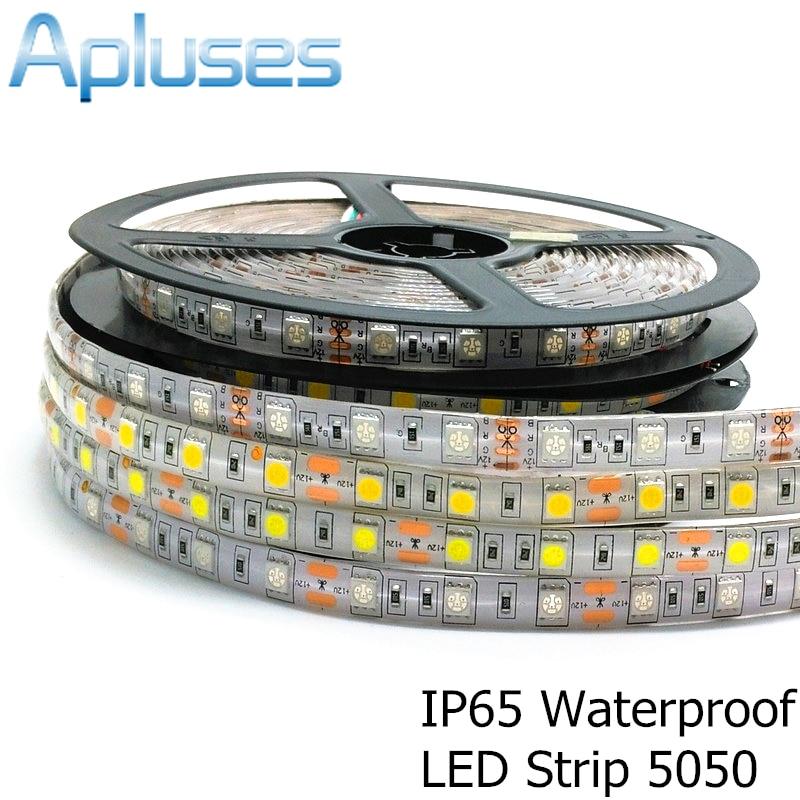 5050 LED sloksne 12V elastīga apdare 300LED ūdensnecaurlaidīga LED lente RGB / balta / silta balta / zila / zaļa / sarkana