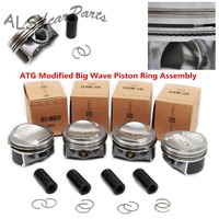 KEOGHS OEM 06K 107 065 A ATG Big Wave Modified Piston Ring & Piston Kit For VW Golf Passat Audi A4 TT 1.8T Pin 23mm 06H107065CP