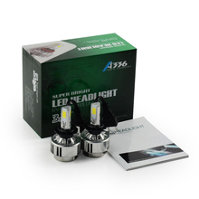 Car Headlight  LED H7 72W Lamp Fog Lamp 6600 LM Car h7 HeadLamps White 6000K FOR car lighting
