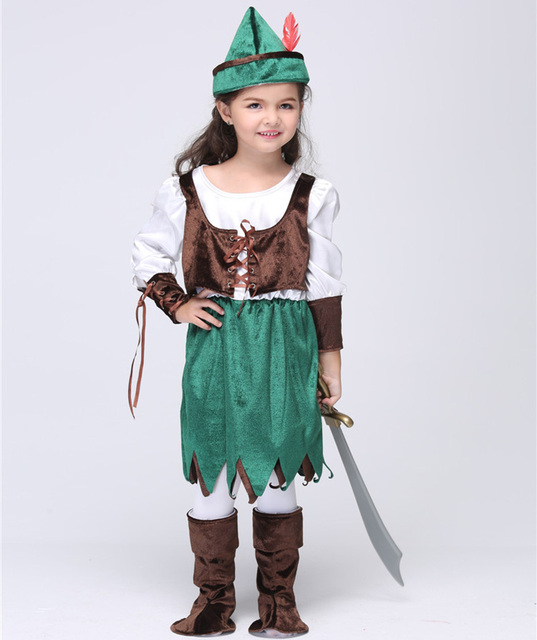 Kids Halloween Pirates Costume For Children Robin Hood Cosplay Uniforms Kids Party Dress Performance Wear  sc 1 st  AliExpress.com & Kids Halloween Pirates Costume For Children Robin Hood Cosplay ...