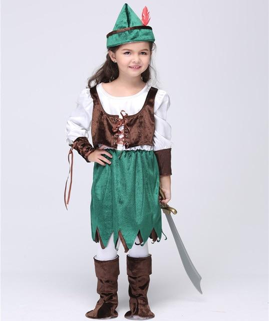 Kids Halloween Pirates Costume For Children Robin Hood Cosplay Uniforms Kids Party Dress Performance Wear  sc 1 st  AliExpress.com & Kids Halloween Pirates Costume For Children Robin Hood Cosplay ...