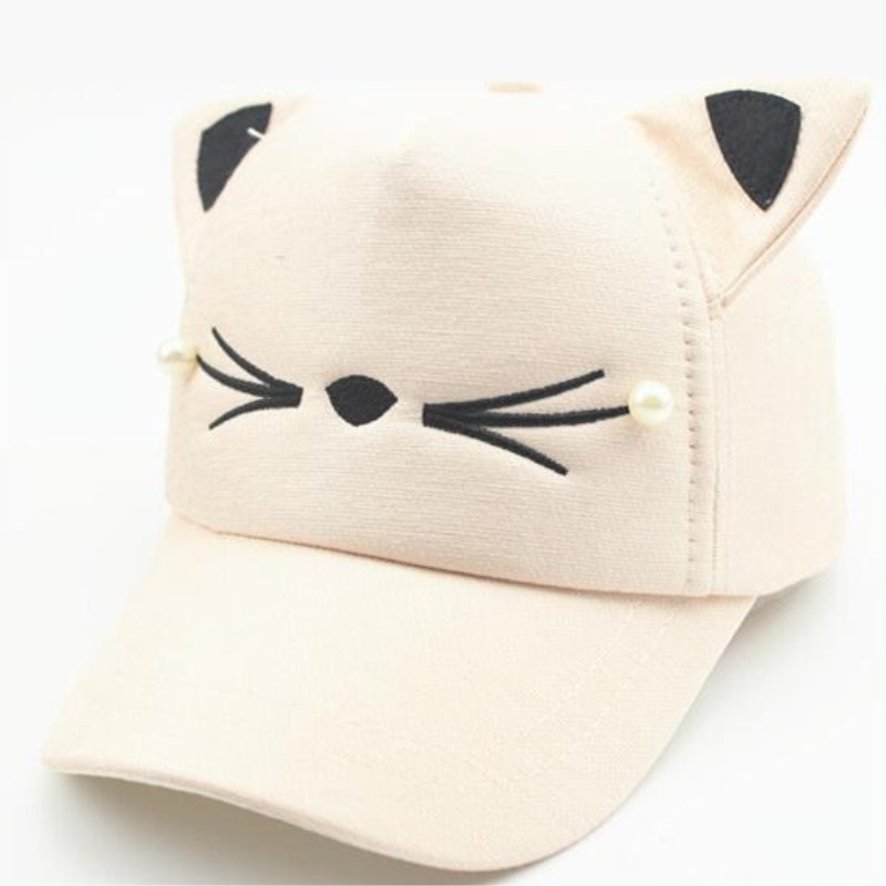 2017 Baby girl cute ear corner   baseball     cap   child rebound summer adjustable sun hat child hip hop hat