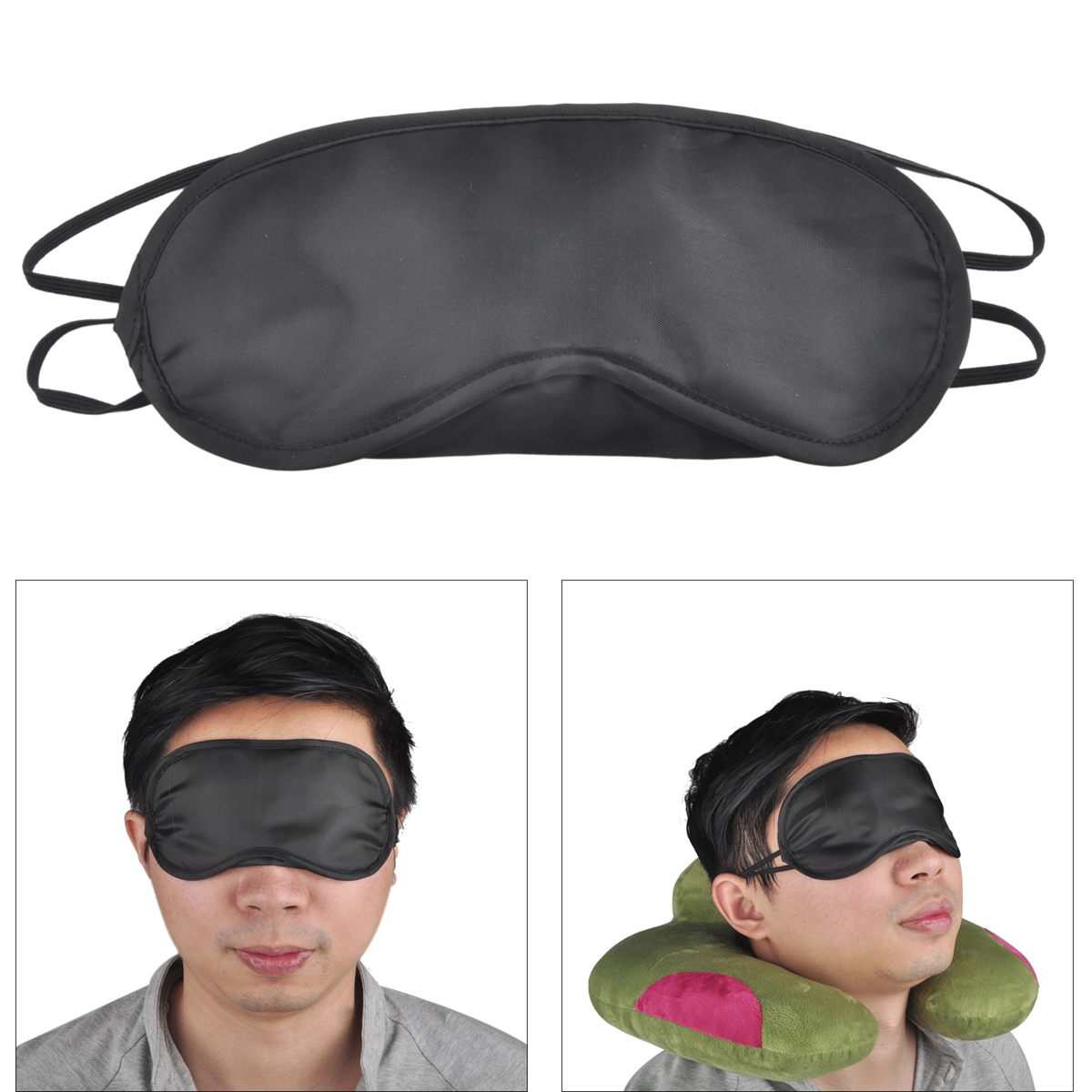 100Pcs Lot Sleep Mask Natural Sleeping Eye Mask Eyeshade Cover Shade Eye Patch Women Men Soft Portable Blindfold Travel Eyepatch in Face Skin Care Tools from Beauty Health