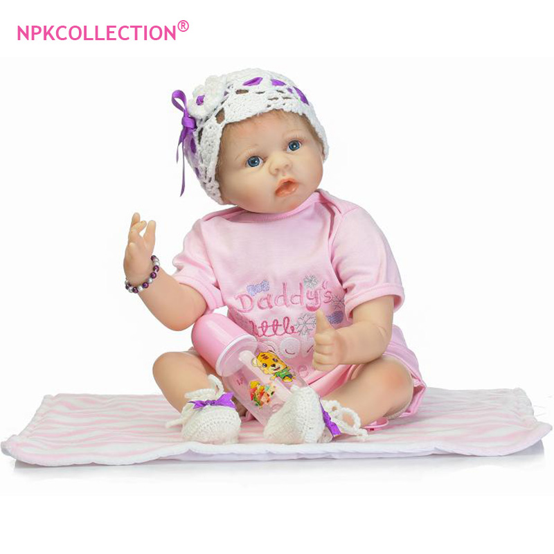 22inch 55cm Silicone Baby Reborn Dolls Lifelike Newborn Girl Babies Toy for Child Pink Princess Doll Birthday Gift Brinquedos silicone baby reborn dolls lifelike newborn girl babies toy for child boy doll birthday gift brinquedos hds21