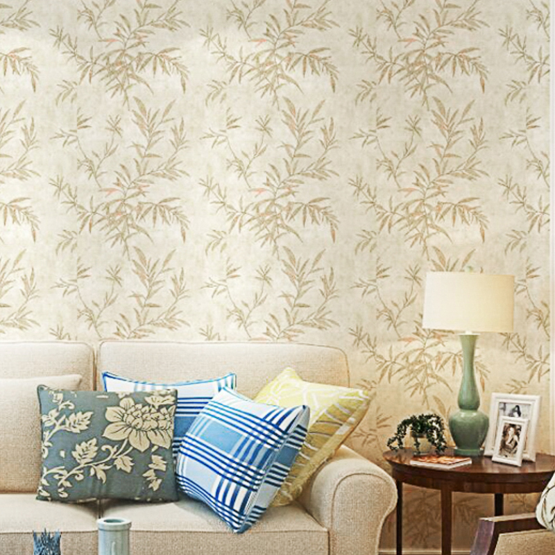 Us 16 8 52 Off Autumn Vintage Style Leaf Wallpaper Roll Bedroom Living Room Background Wall Paper Home Decor Retro Rustic Wallpapers For Wall In