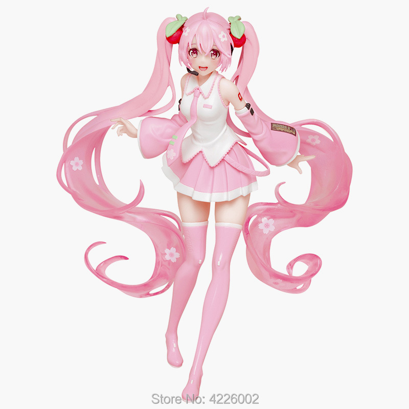 Hatsune Miku Sakura PVC Action Figure Anime Vocaloid Japanese Figurine Collectible Model Kids Toys Doll For Children Gift 20CM