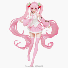 Hatsune Miku Sakura PVC Action Figure Anime Vocaloid Japanese Figurine Collectible Model Kids Toys Doll for Children Gift 20CM