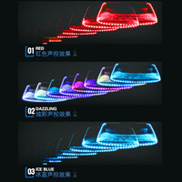Car Atmosphere Warning Light LED Strip Light Flashing Colorful Rear Taillights Decor Lights Self adhesive Fixed Voice Control