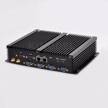 Kingdel безвентиляторный промышленный мини-ПК i3 Windows 10 ITX компьютер 8 ГБ ОЗУ 256 г SSD 1 ТБ hdd 2 LAN 2 HDMI 6 com 8 USB неттоп