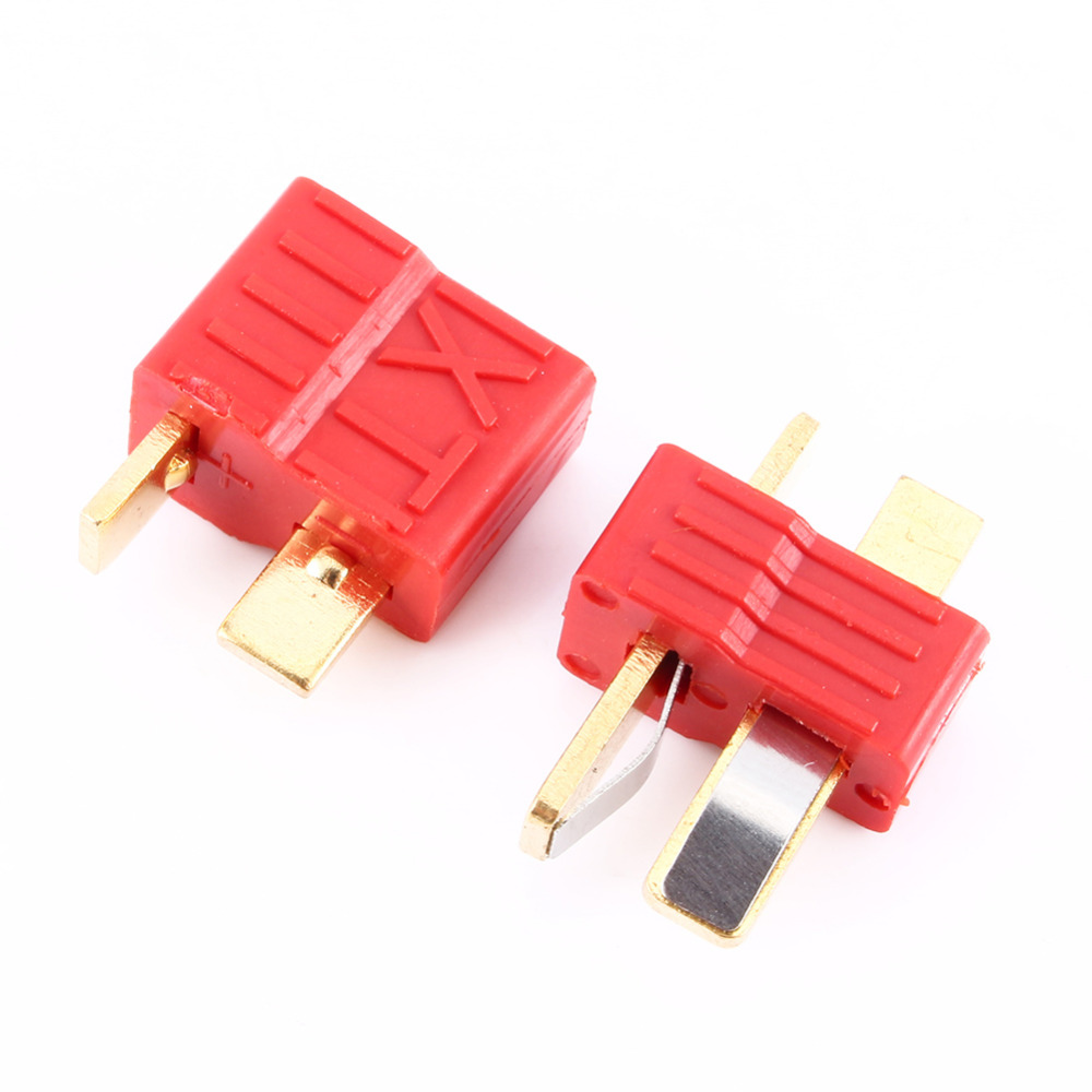 1 PAIRS DEANS ULTRA T-STYLE CONNECTORS PLUGS W/ HEAT SHRINK WRAP best price
