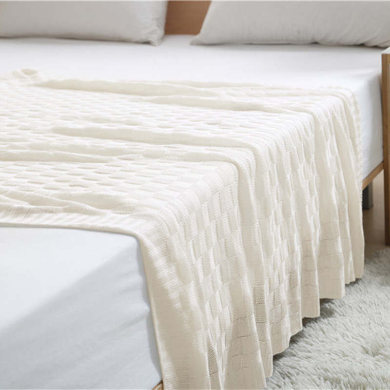 120x110cm Simple Blanket Sofa Decorative Slipcover Throws on Sofa Bed Plane Travel Plaids Rectangular Stitching Blankets in Throw from Home Garden
