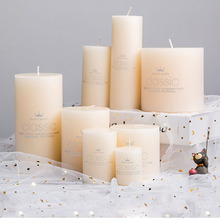 цена на Romantic Wedding Candle Party White Light Home Gift Tea Light Scented Candles Birthday Pillar Geurkaars Decorative Candles 30C45