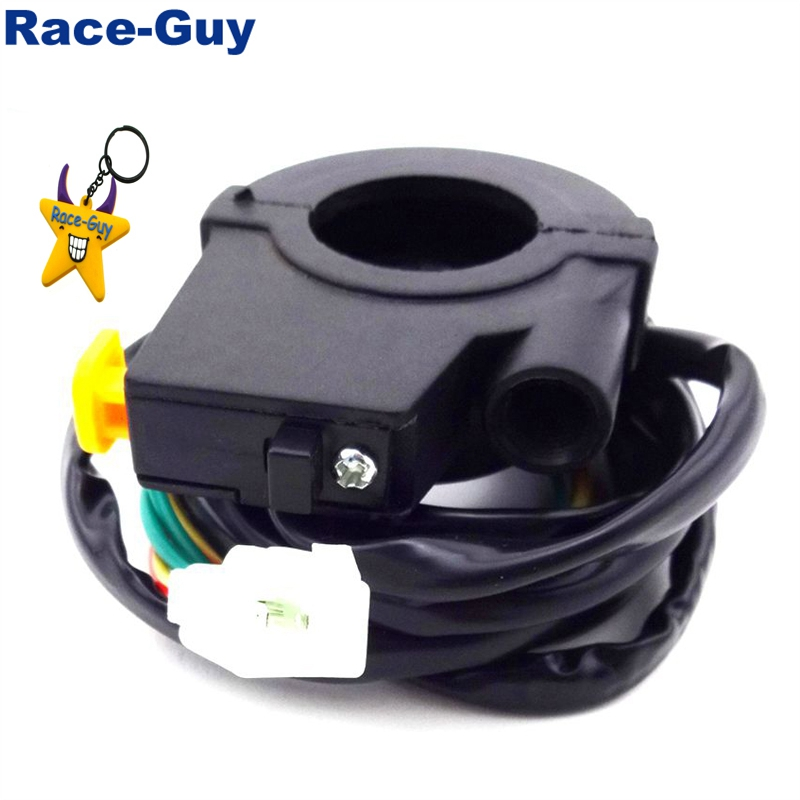 7/8'' 22mm Plastic Off Stop Kill Switch Handle Throttle Housing For Pocket Bike Goped Scooter Gas Motorized Bicycle