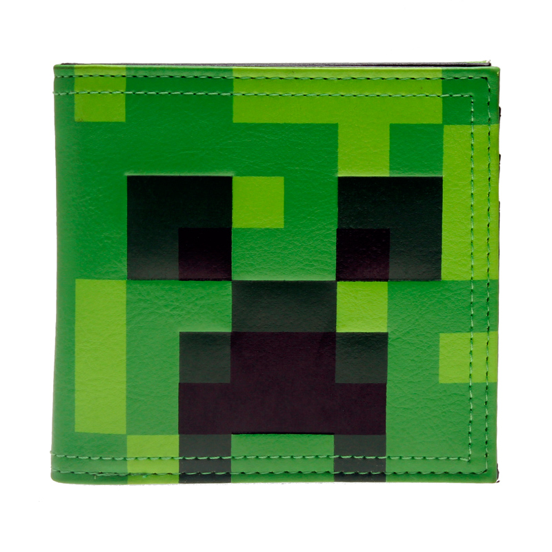 JINX Minecraft Dirt Block Green Bi Fold Wallet DFT 2202-in