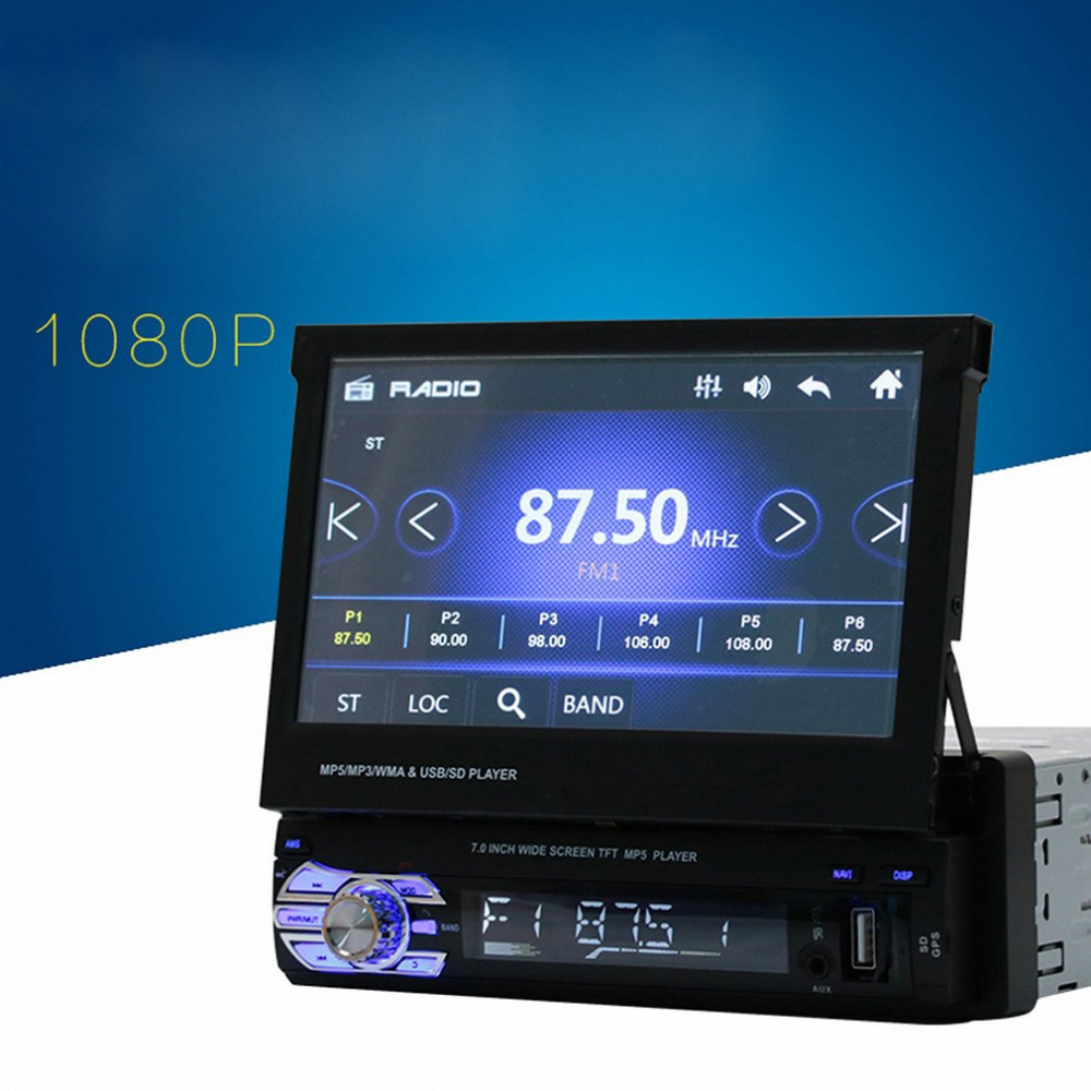 Newest Universal 7inch TFT Touch Screen HD Car MP5 Player Stereo Radio Tuner Audio GPS Memory
