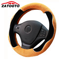 New Winter Plush Warm Car Steering Wheel Cover Anti-skid Breathable Steering-wheel Cover Car Styling