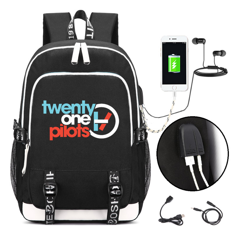 Weed Leaf Hip Hop Rucksack Backpack Bag W/USB Fashion Port Lock Zipper Teenager Student School Travel Laptop Bag Gifts