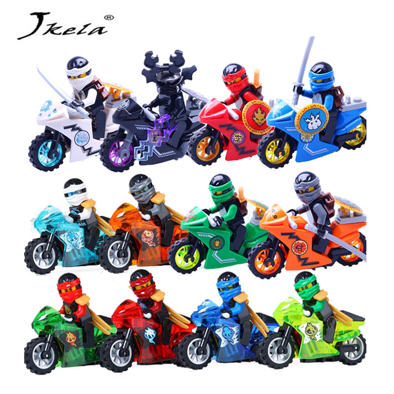 [Promotion] 38pcs Ninjas Motorcycle Building Blocks Bricks toys Compatible legoINGly Ninjagoed Ninja for kids gifts 588pcs bricks diy ninjagoed movie building blocks compatible legoingly shark ninjagoed mini action figures blocks children toys