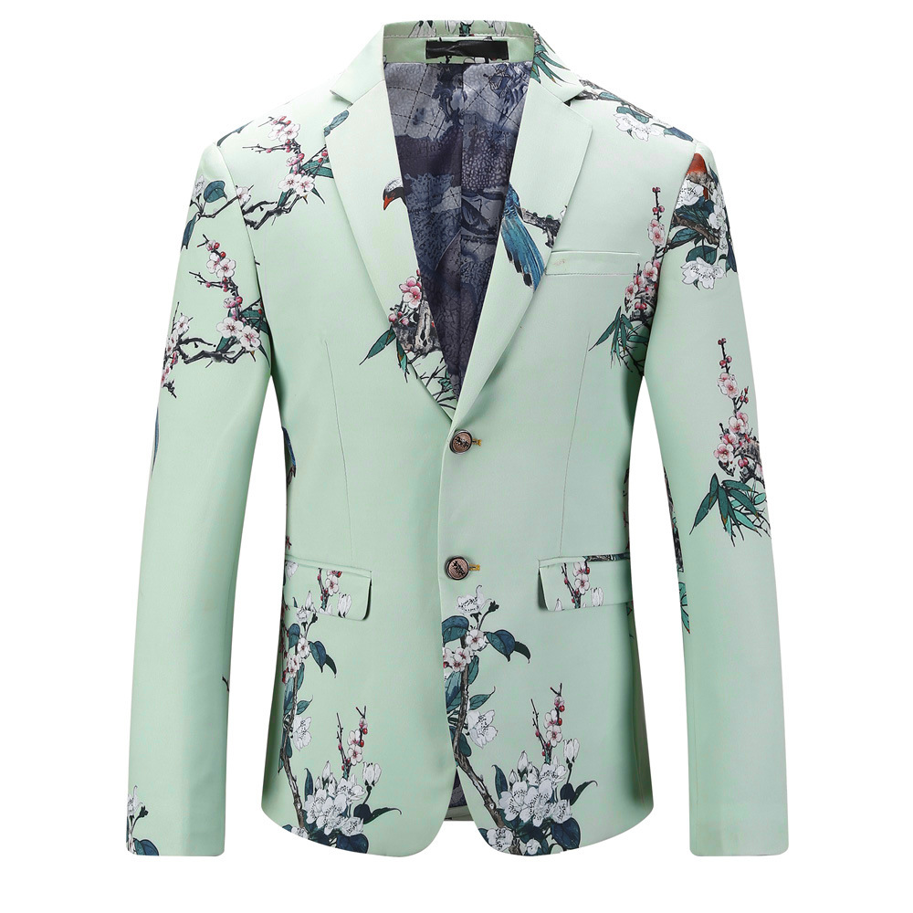Mens Luxury British Style Men s Blazers Large Size Suits Digital Printing  Mint Blazers Decorative Pattern Plus Size M 5XL-in Blazers from Men s  Clothing on ... 94670945fbaf