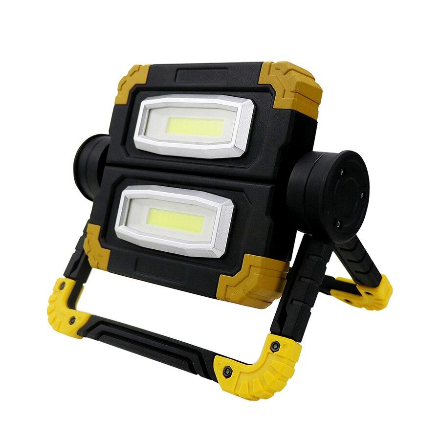 Projecteur de LED Portable 20 W projecteur alimenté par batterie lampe de Camping pliable extérieure haute luminosité éclairage de travail DC6V