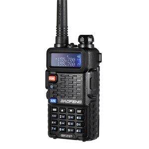 Image 2 - 2個オリジナルbaofeng F8 + 長距離woki土岐警察トランシーバートランシーバー5キロ範囲双方向ラジオwalkyトーキーアマチュア無線のhf受信機
