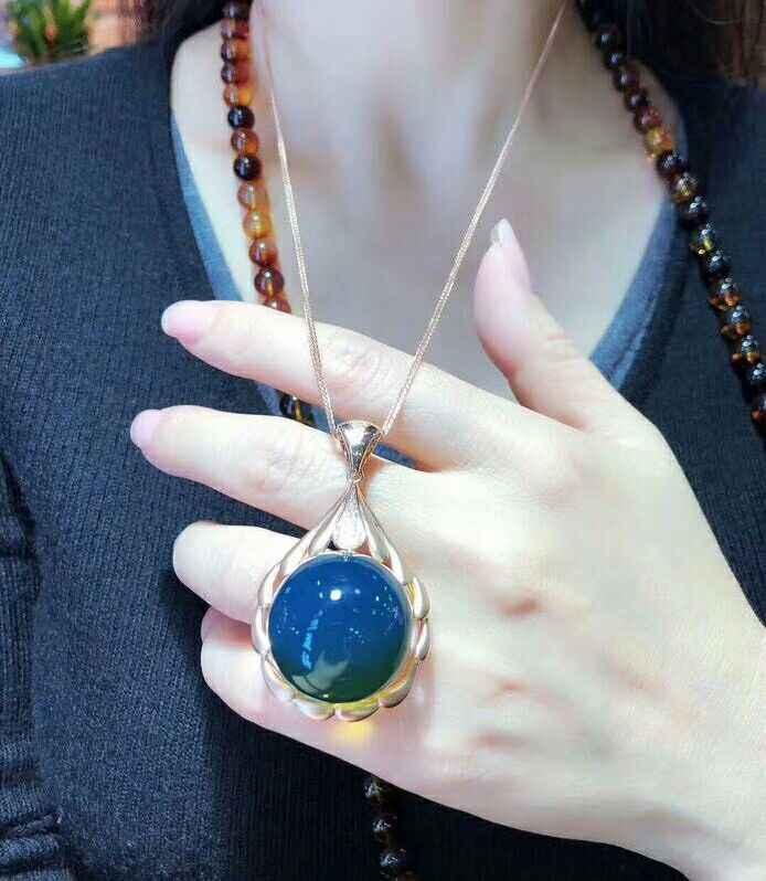 MeiBaPJ ธรรมชาติ Tanzanite จี้สร้อยคอใบรับรอง 925 เงินหินสีฟ้า Fine Charm เครื่องประดับสำหรับผู้หญิง