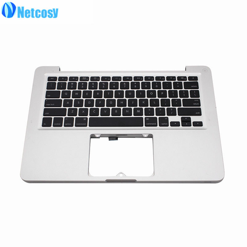 Netcosy 97% New A1278 For Macbook Sliver Top upper Case With US Keyboard For Macbook Pro 13 A1278 2011 2012 Year laptop original top case palmrest for macbook pro unibody 13 a1278 2011 2012 years