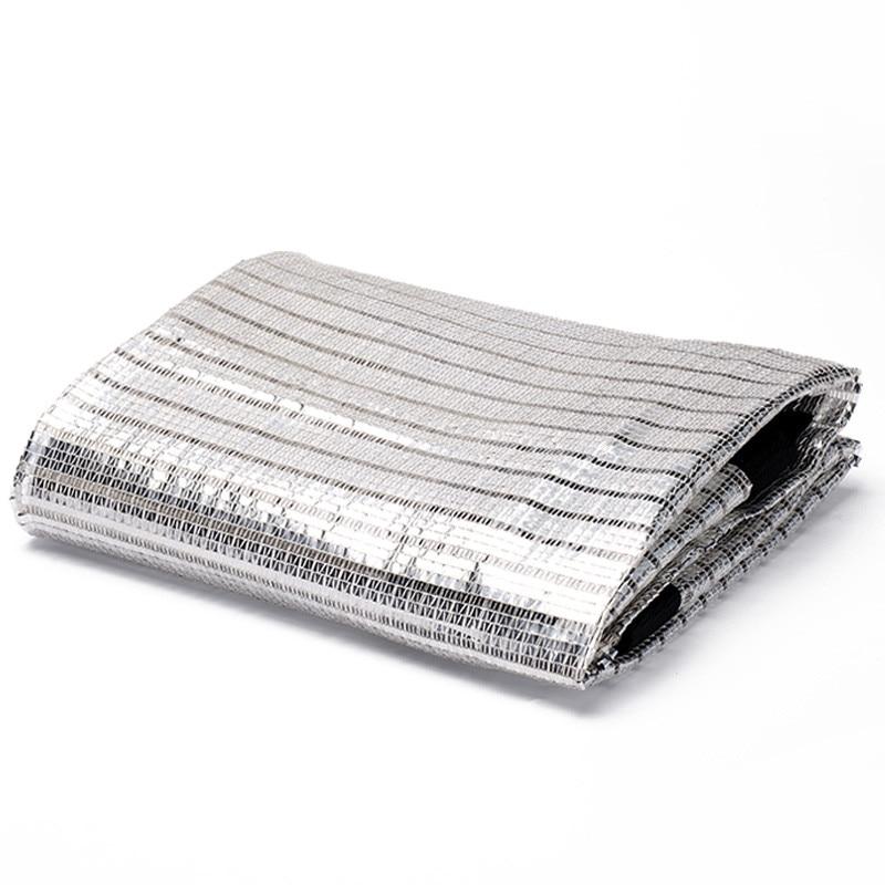 Multi größe Silber Reflektierende Aluminium folie sonnenschutz wärmedämmung noch helle licht genäht up die kanten Sun Shelter net
