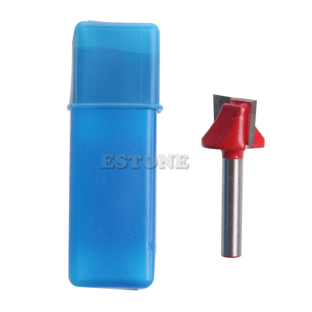 1/4 Router CNC Woodworking V Groove Bottom Cleaning Bit 6mmx22mm Milling Cutter -Y103 1pc cleaning bottom router bit cutter cnc woodworking clean bits 1 2 shank dia