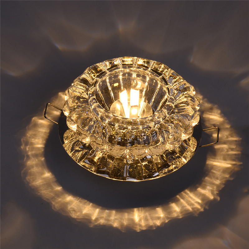 Modern LED Ceiling Lamp Crystal Lighting With Recessed Mount For Aisle Porch Living Room Balcony Focos LED Techo Light
