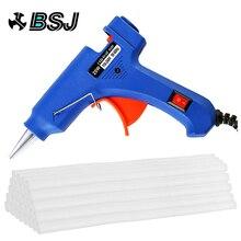 цена на Hot Melt Glue Gun with 30pc 7mm*200mm Glue Stick Industrial Mini Guns Thermo Electric Heat Temperature Tool