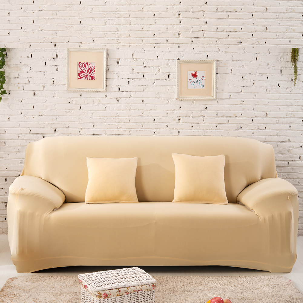 Pure Sofa Cover Stretchy Washable Sofa Case Anti Dust