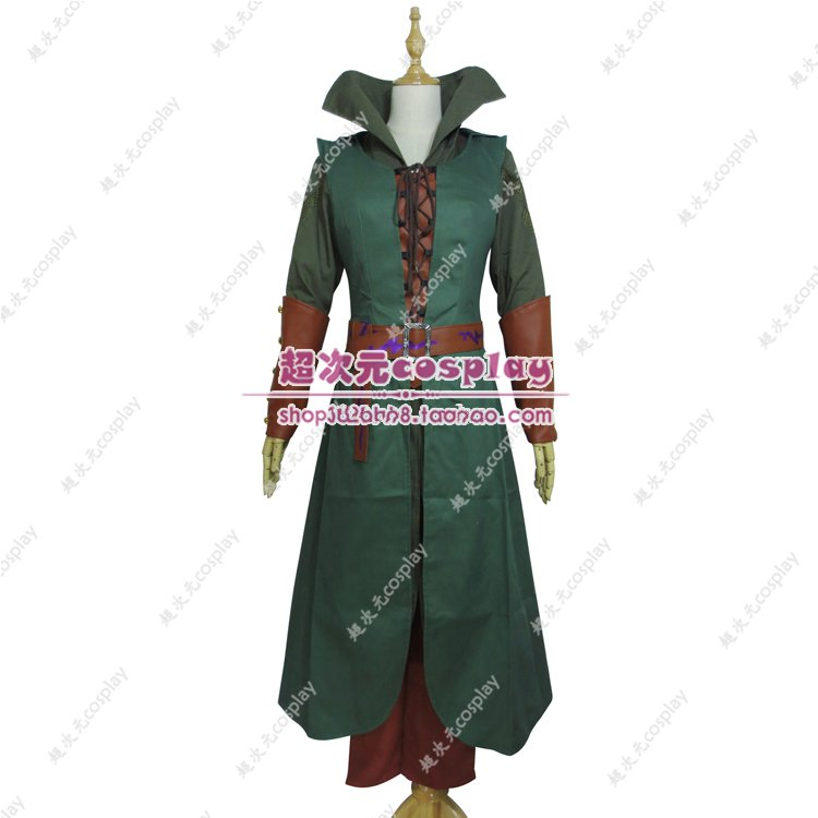 Movie Hobbit Elf Tauriel Pleather Outfit Hoodies Pants Movies Halloween Cosplay Fuil Set Custom Made Costumes