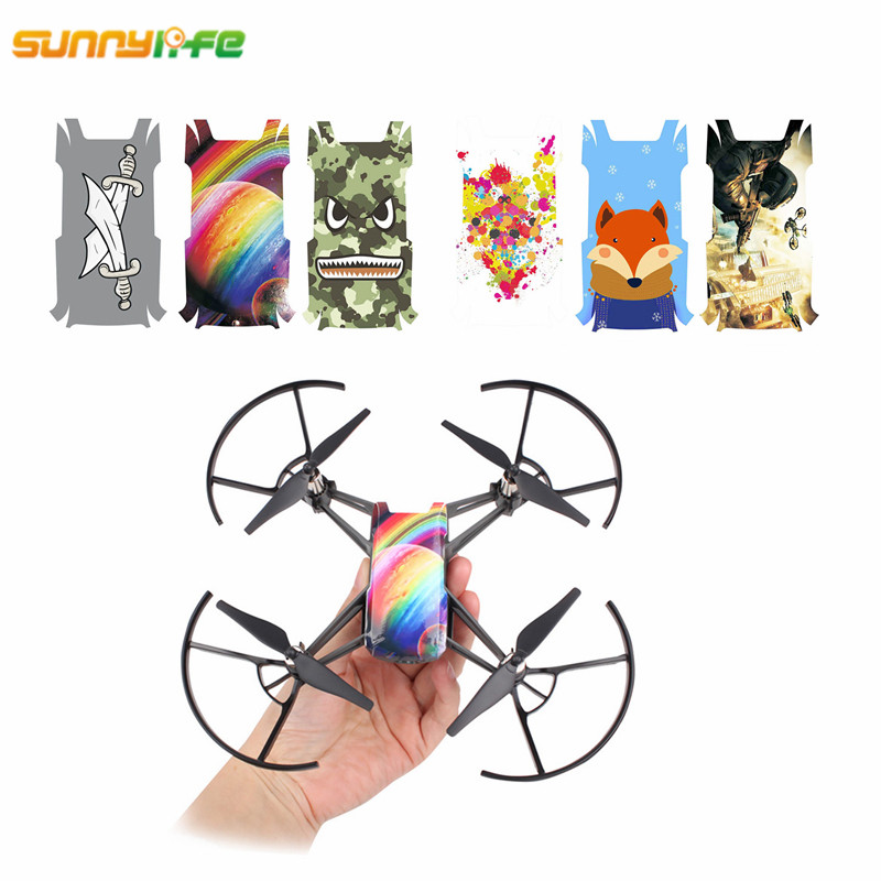 For DJI Tello PVC Body Sticker TELLO Case 3pcs Colorful Decals Skin Waterproof Protective Skin Protector For Tello Drone