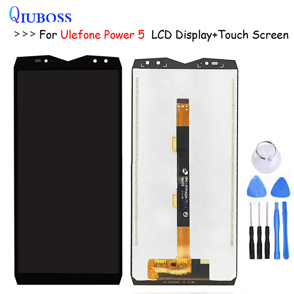 For Ulefone Power 5 LCD Display +Touch Screen Assembly Digitizer Replacement For LCD Ulefone Power5 Display free ToolsFor Ulefone Power 5 LCD Display +Touch Screen Assembly Digitizer Replacement For LCD Ulefone Power5 Display free Tools