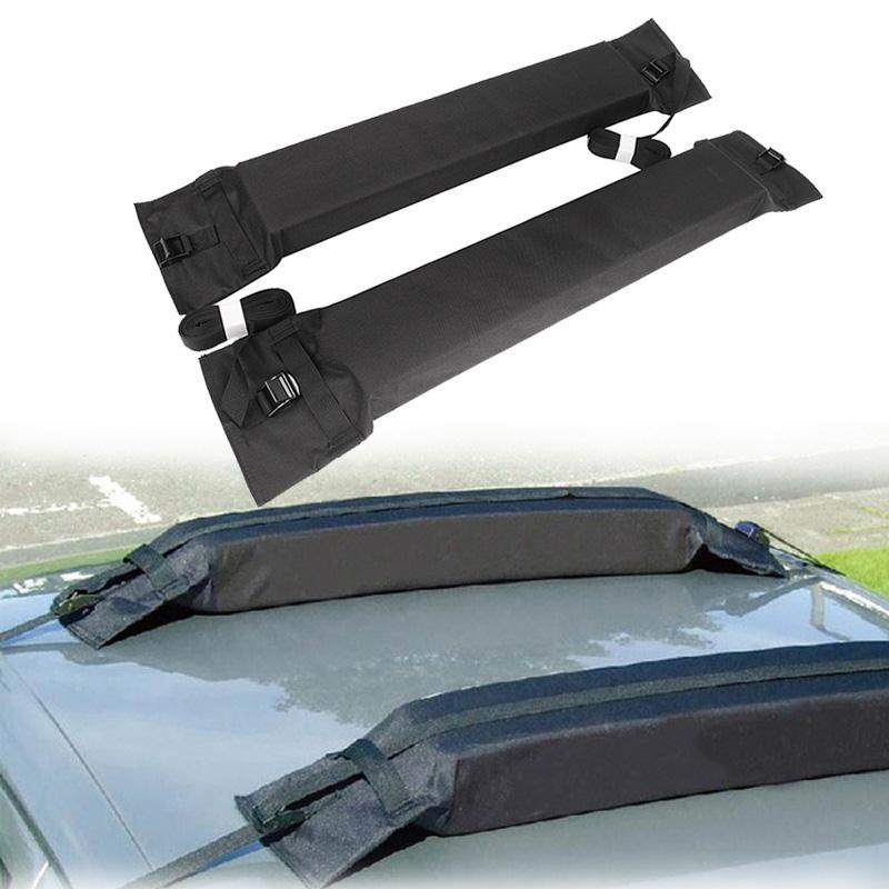A Pair Black Soft Auto Car Roof Rack Cross Bar Load 60kg