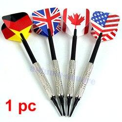 4 Stücke Dart Messing Weiche Spitze Bar Darts Mit Nizza Nationalflaggen Werfen Flüge Spielzeug
