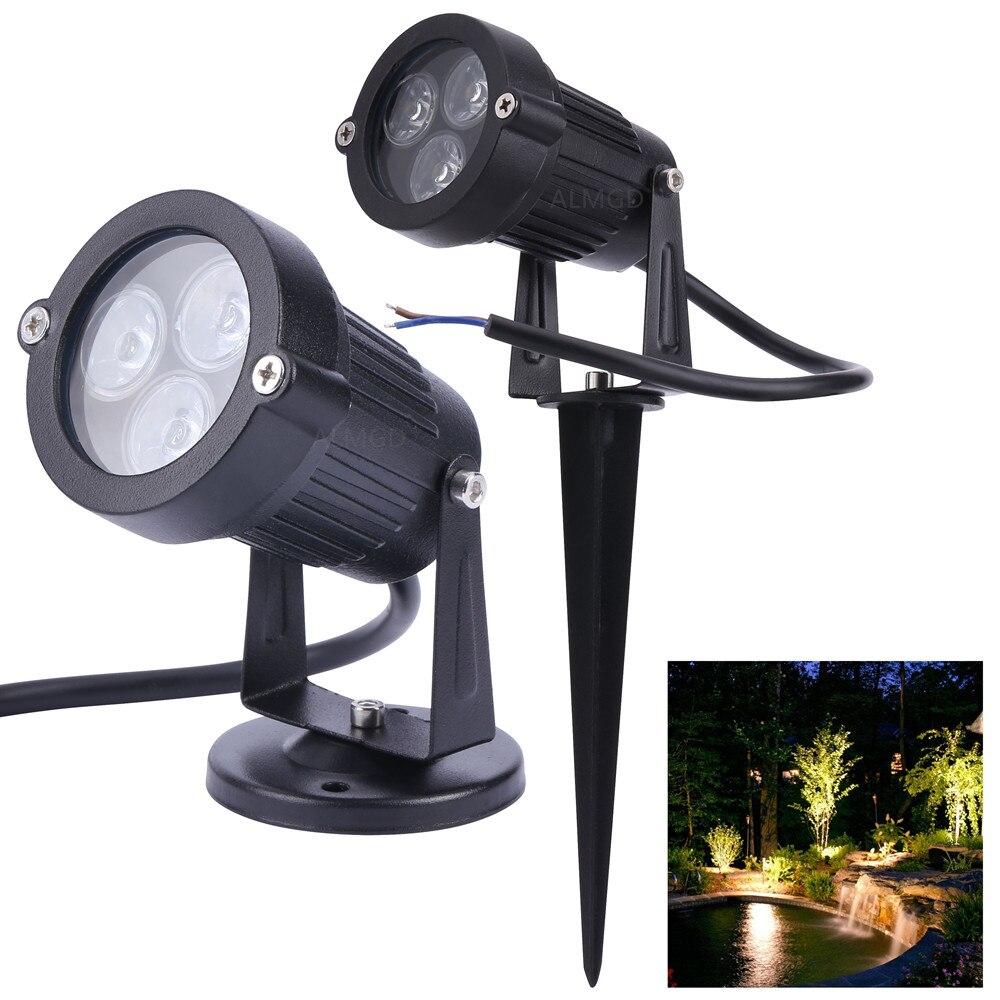 DC 24V Garden LED Lawn Lamp 9W Outdoor Landscape Lighting IP65 12V Waterproof Lawn Light Yard Path Spotlight