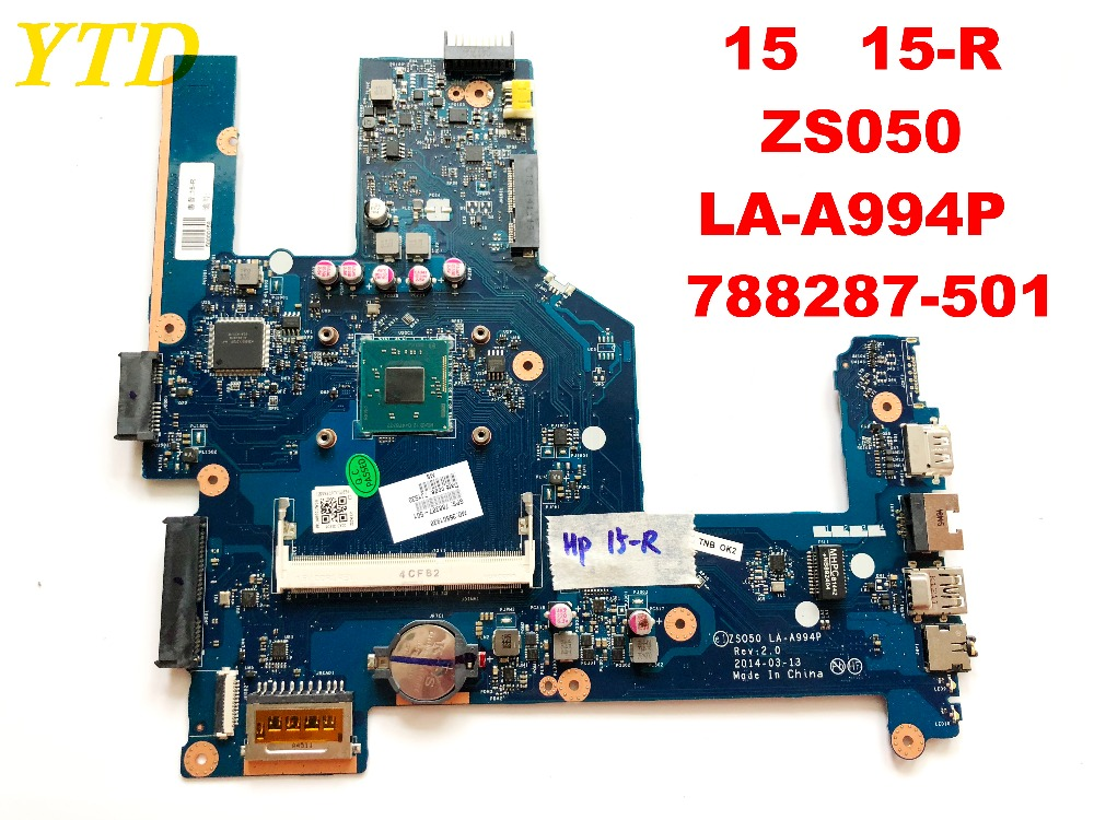 Original for HP 15 HP 15-R laptop motherboard 15 15-R <font><b>ZS050</b></font> <font><b>LA</b></font>-<font><b>A994P</b></font> 788287-501 tested good free shipping image