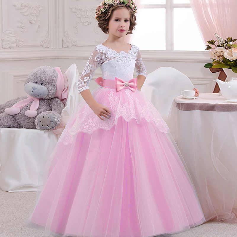 ילדים מתלבש בנות שמלת כלה אלגנטי נערה ערב המפלגה נסיכת שמלה עבור בנות תלבושות 4 5 6 8 9 10 11 14 שנה