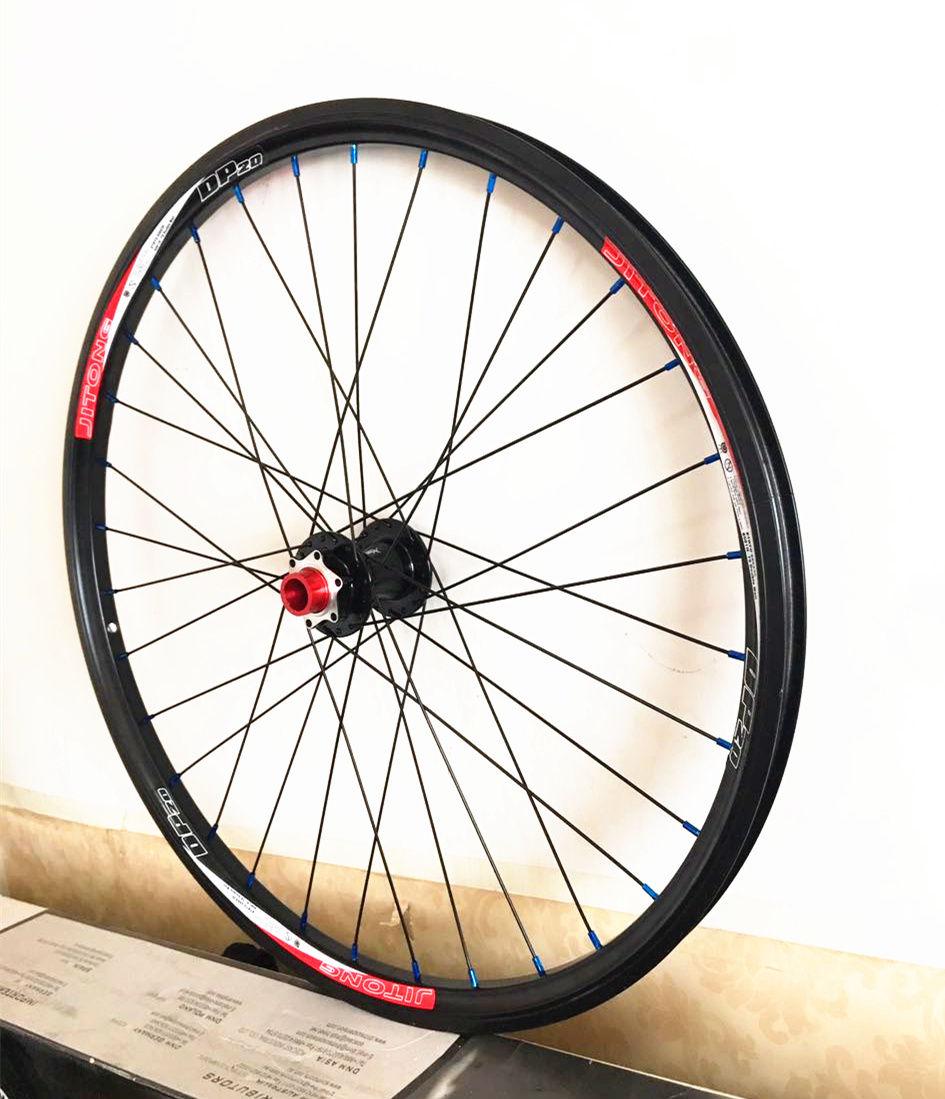MTB Mountain Bike Bicycle DH/AM Down Hill 20mm Thru-axis Shaft Front Wheels Wheelset Rim 30mmm WidthMTB Mountain Bike Bicycle DH/AM Down Hill 20mm Thru-axis Shaft Front Wheels Wheelset Rim 30mmm Width