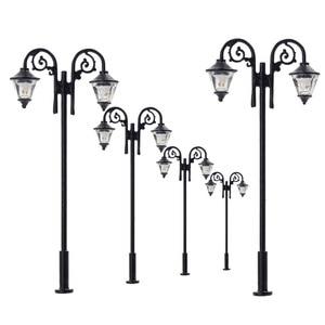 Image 1 - Luces de calle miniatura de 65mm, luces LED de poste de lámpara, miniatura, doble cabezal, blanco cálido, LYM61, 5 uds.