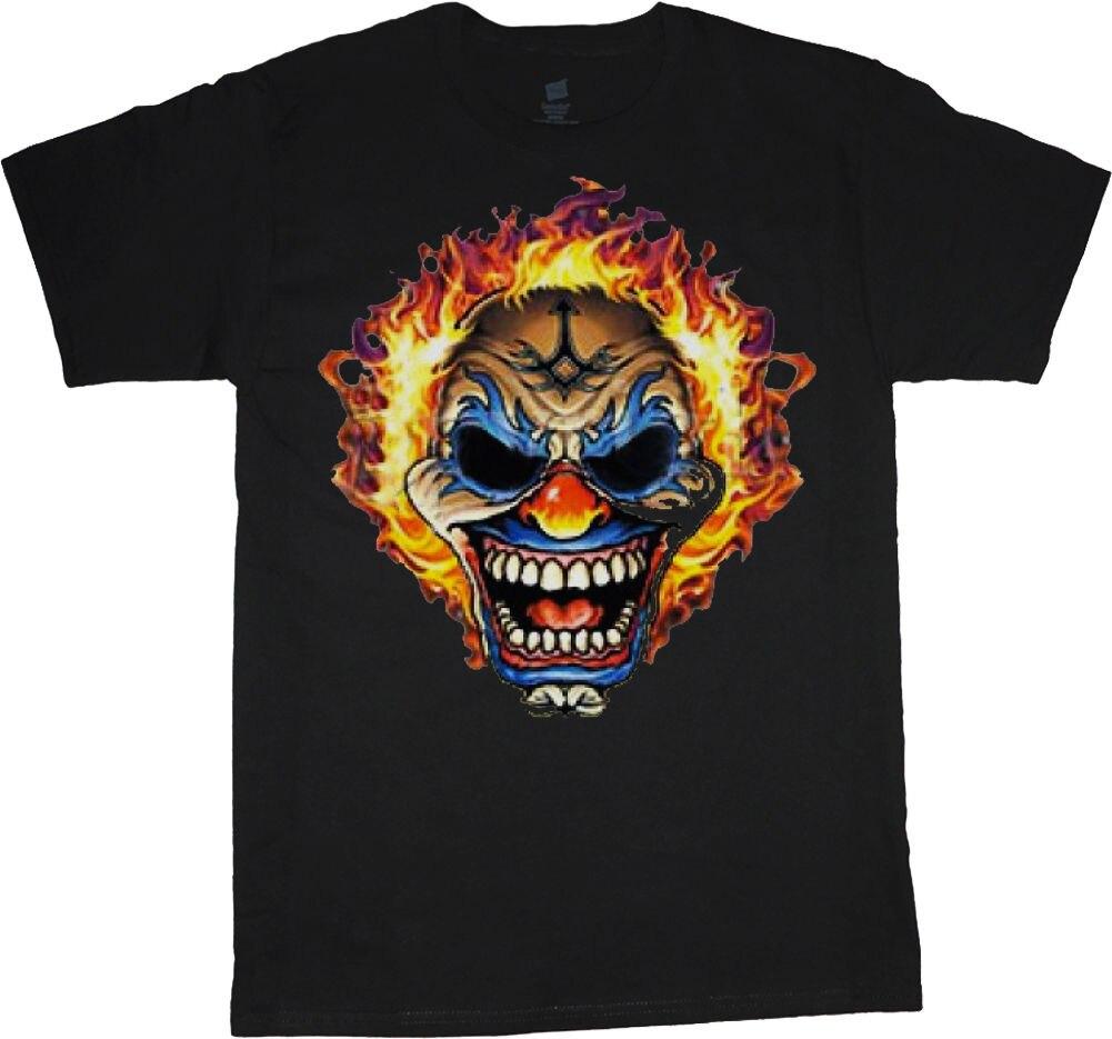 Big man shirt evil clown skull tee mens plus size big and tall 5X 6X 7X 10X