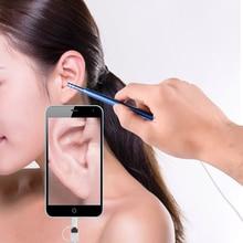 Ohr Reinigung Endoskop 2 In1 USB HD Visuelle Ohr Löffel 5,5mm Mini Kamera Android PC Ohr Pick Otoskop Endoskop werkzeug Gesundheit Pflege