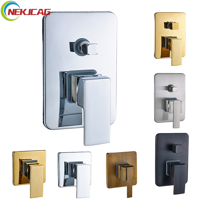 Triple Mixer Valve Bath Shower Faucet Diverter Cartridge Valve 2 Way 3 Ways Faucet Control Valve Diverter Catridge new hot sale wall mounted square shower mixer faucet control valve diverter 3 ways shower valve