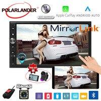 7'' 2 DIN Car Radio For Apple Carplay & Android Multimedia Mirror link Car Stereo Touch Screen Bluetooth FM GPS Navi Autoradio