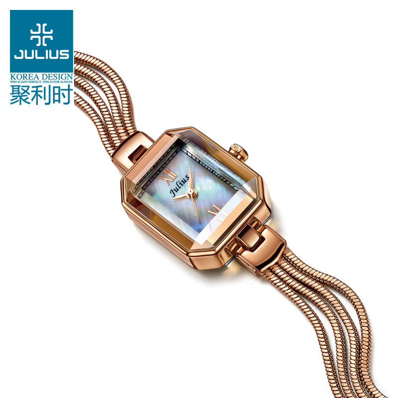 Top Julius Lady Woman Wrist Watch Japan Quartz Fashion Hours Dress Bracelet Shell Snake Chain Tassels School Girl Gift JA-716