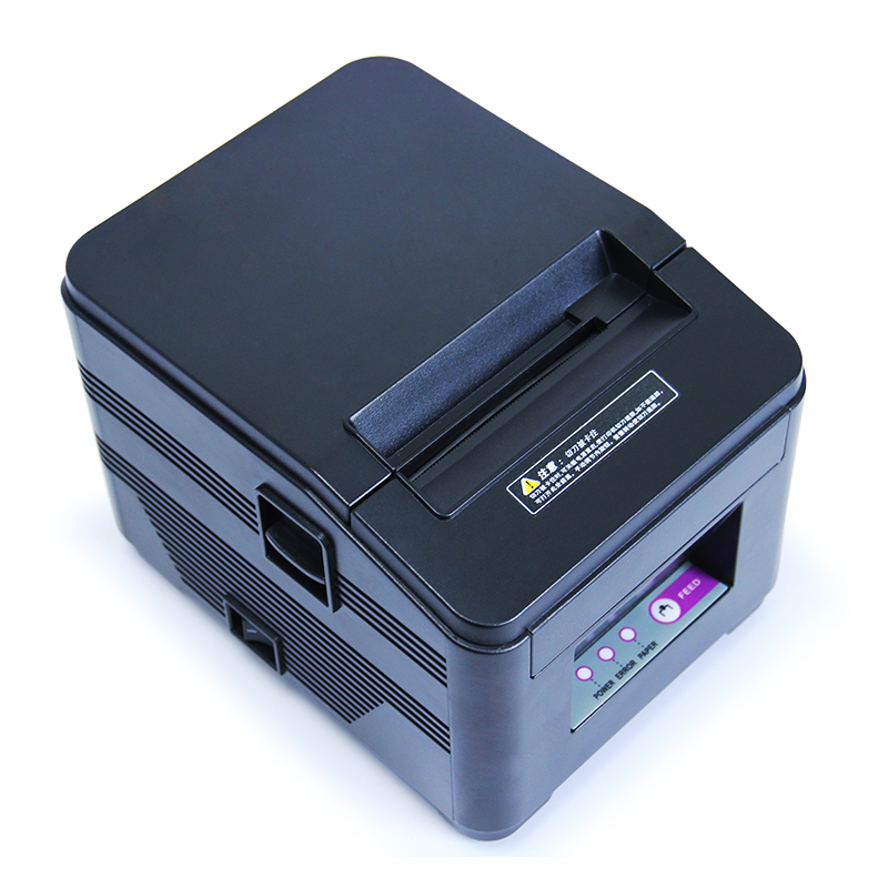 High quality 80mm auto cutter thermal receipt printer pos printer thermal bill printer USB+serial/Ethernet lcod t58zu pos58zu thermal receipt printer bill printing machine black