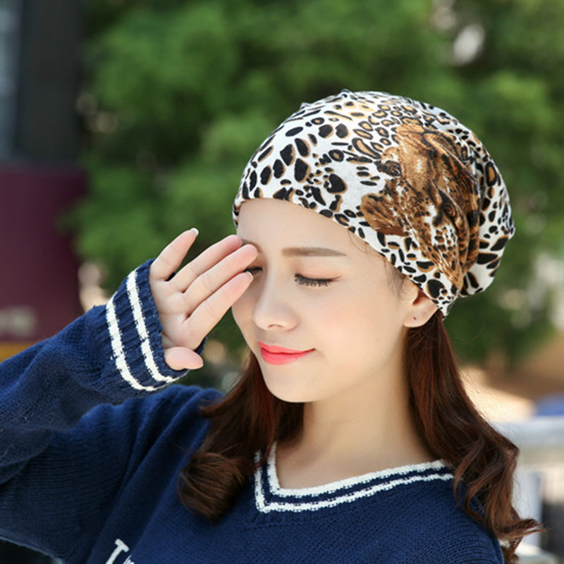 female autumn winter color hat ladies head fashion chemotherapy month cap  leaf strip star girls double d9562b46a0e6