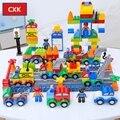 DIY Красочные городские полицейские Большие размеры блоки  совместимые с большим размером фигуры автомобиля развивающие Кирпичи игрушки дл...